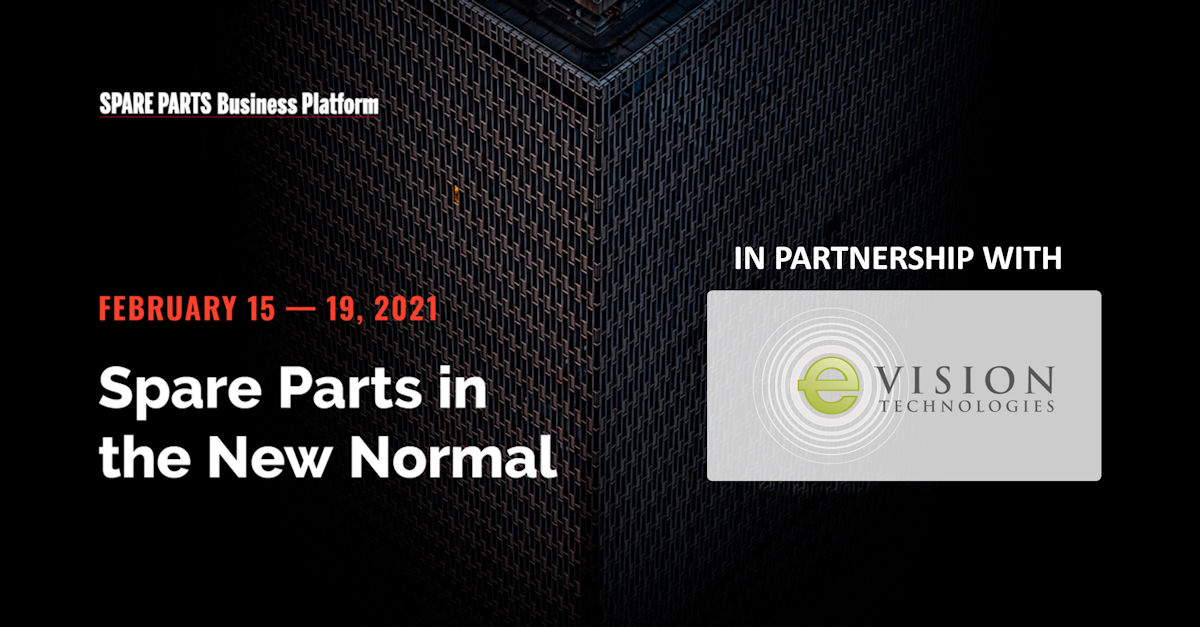 Spare parts business platform banner February 15 to 19 2021